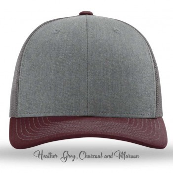 Heather Grey/Charcoal/Maroon